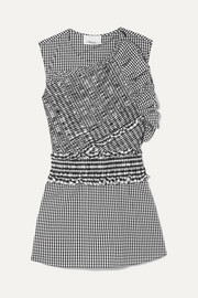 3.1 Phillip Lim Smocked gingham cotton-blend top