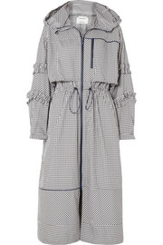 3.1 Phillip Lim Ruffled gingham canvas parka
