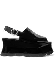 McQ Alexander McQueen Cecily patent-leather platform sandals