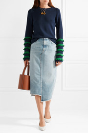 Marr fringed stretch-knit sweater
