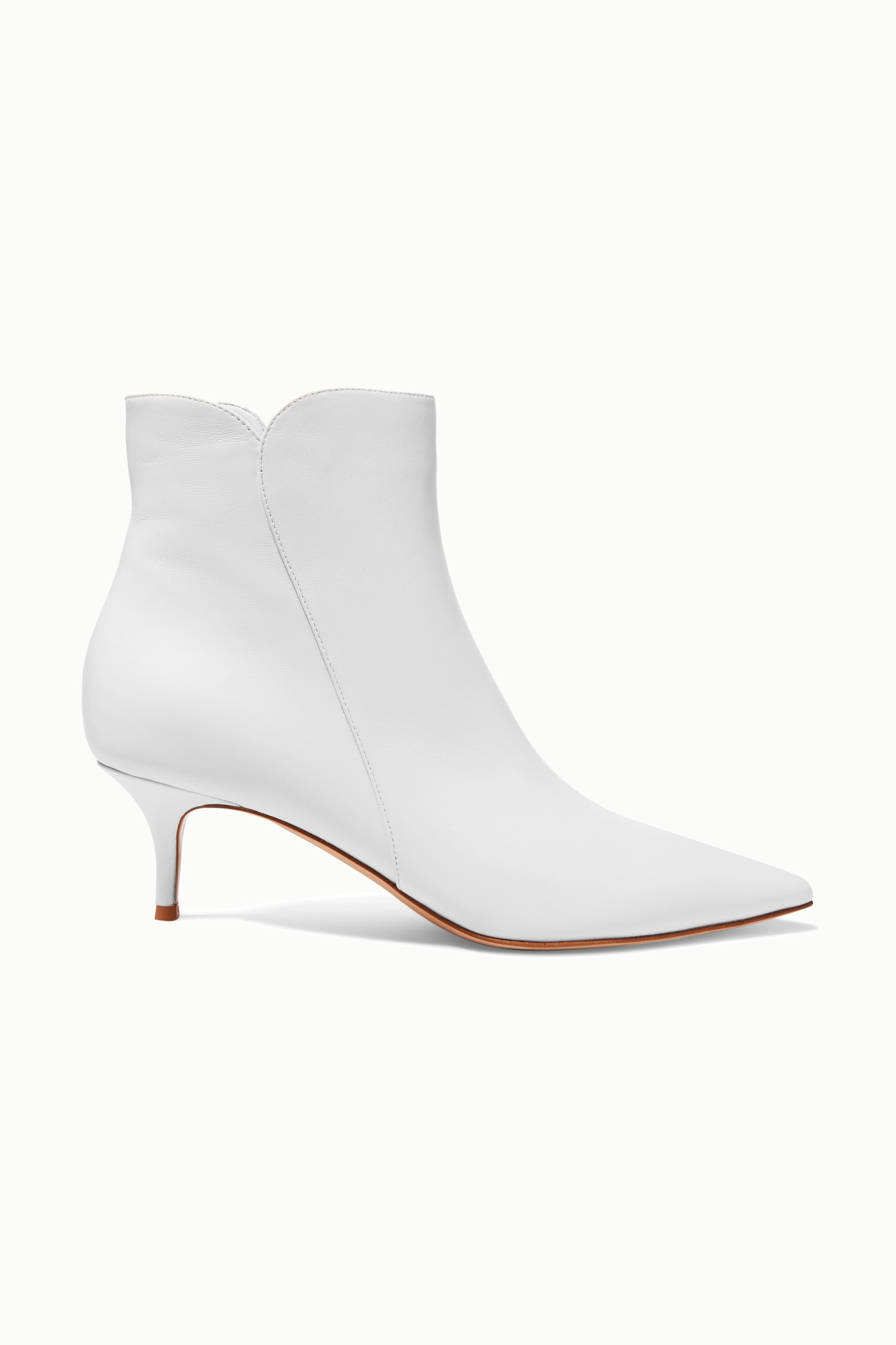 White Levy 55 leather ankle boots