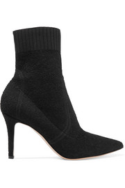Gianvito Rossi 85 stretch-terry sock boots