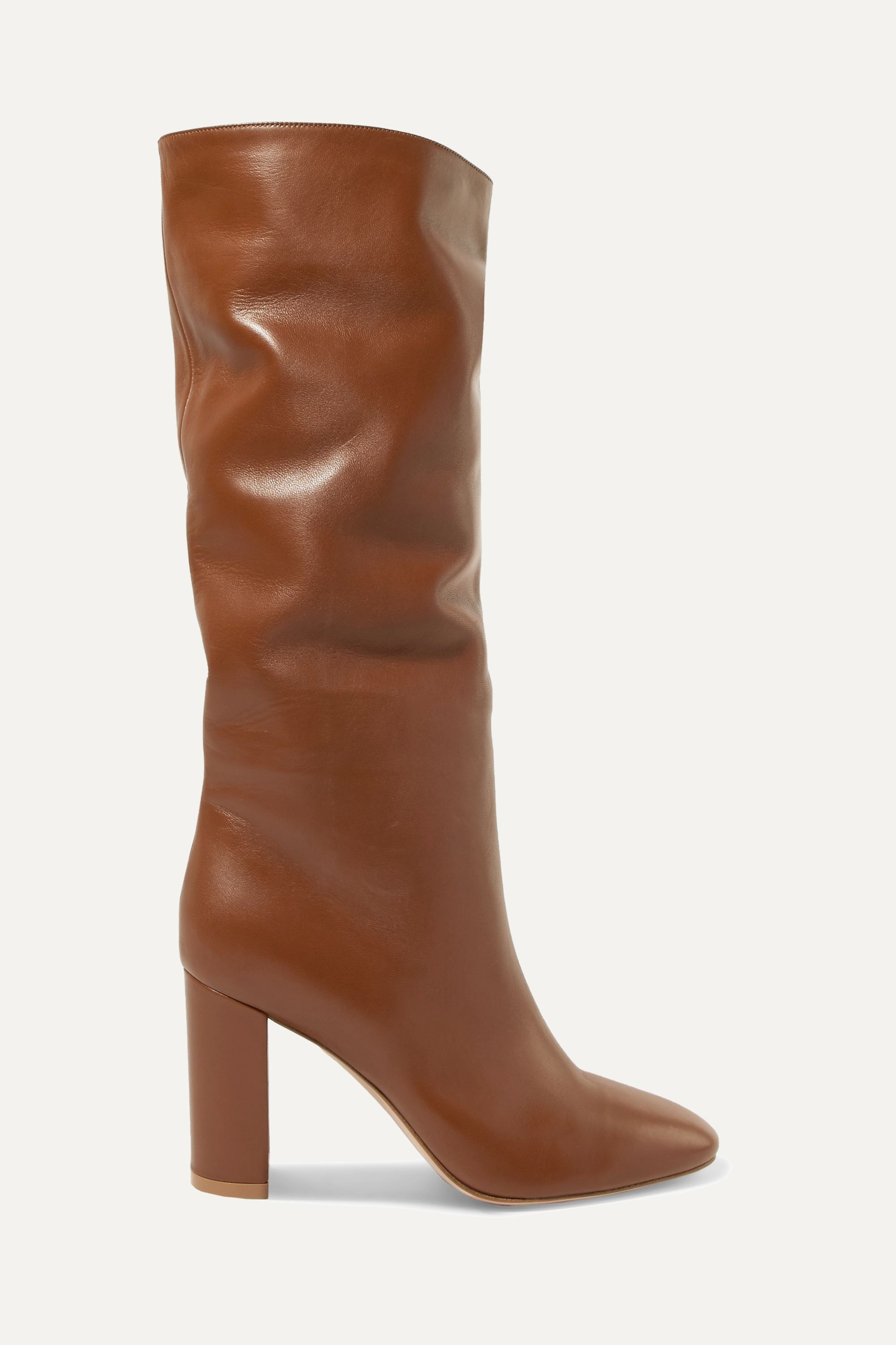 Gianvito Rossi Laura 85 leather knee boots