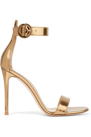 Gianvito Rossi Portofino 105 metallic leather sandals
