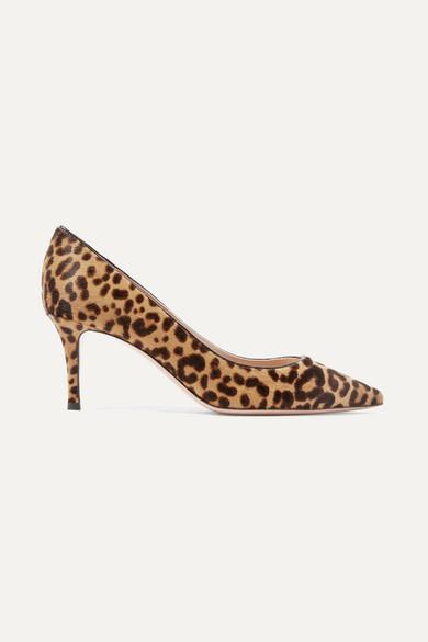 Gianvito Rossi - 70 Leopard-print Calf Hair Pumps - Leopard print
