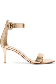 Portofino 70 metallic leather sandals