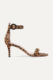Portofino 70 leopard-print calf hair sandals