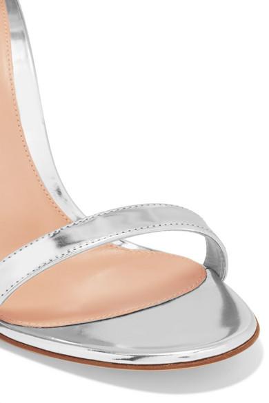 Gianvito Rossi | mit 100 Sandalen aus Metallic-Leder mit | Kristallen c3bf0d