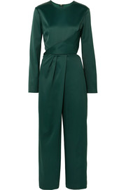 Pia cropped satin jumpsuit