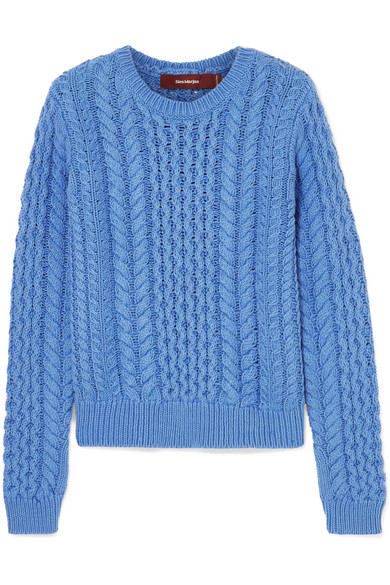 Sies Marjan - Britta Cable-knit Cotton Sweater - Light blue