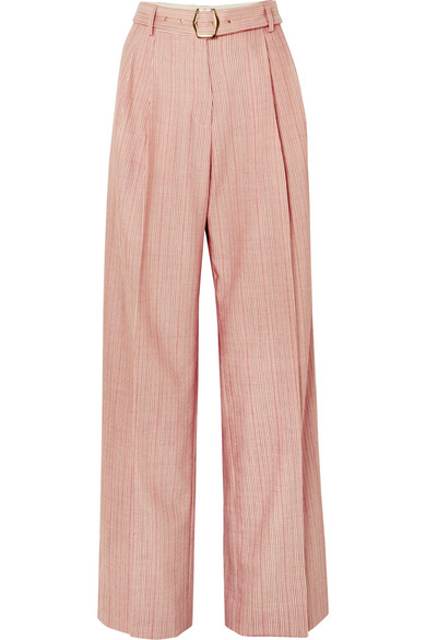 Sies Marjan - Blanche Striped Wool-blend Pants - Red