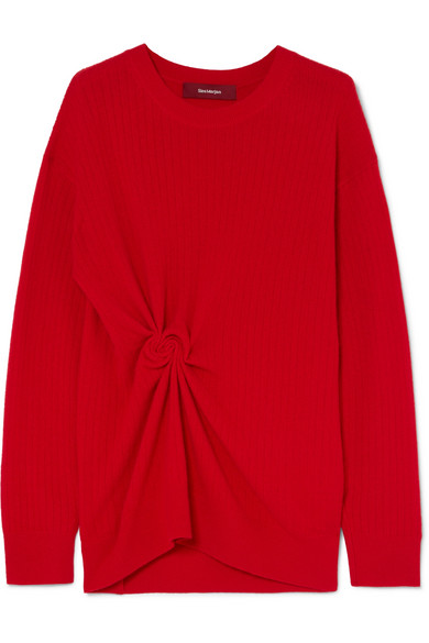 Sies Marjan - Brynn Gathered Ribbed Cashmere Sweater
