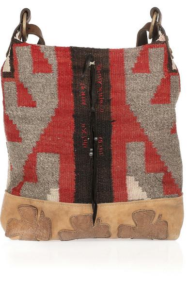 e868ba23bb Ralph Lauren Collection. Vintage Blanket hobo bag.  1