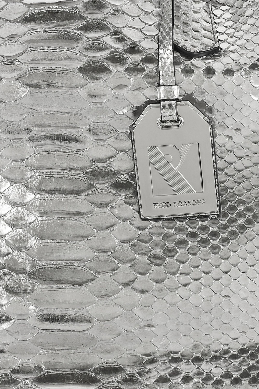 Reed Krakoff Gym II metallic python tote