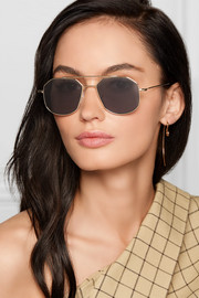 Montevideo aviator-style gold-tone sunglasses