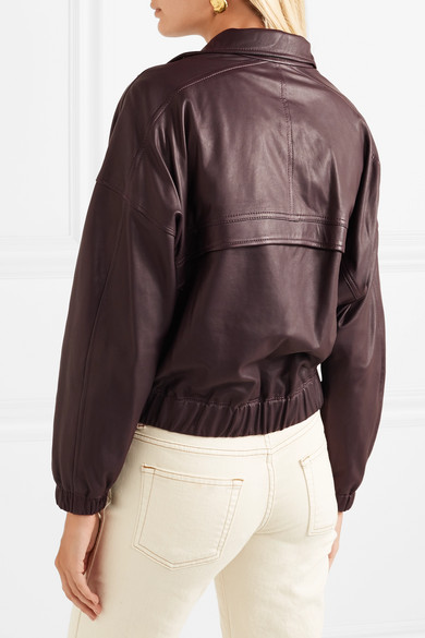 1d7f00254 Vince | Leather bomber jacket | NET-A-PORTER.COM