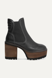 See By Chloé Leather platform ankle boots