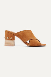 See By Chloé Tina studded suede mules