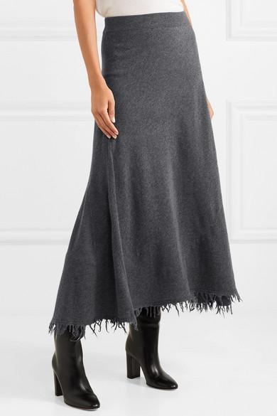 Blend A Midi Net And Wool SanderFrayed Jil Cashmere Skirt CorBxeWd