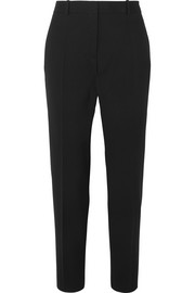 Wool-crepe tapered pants