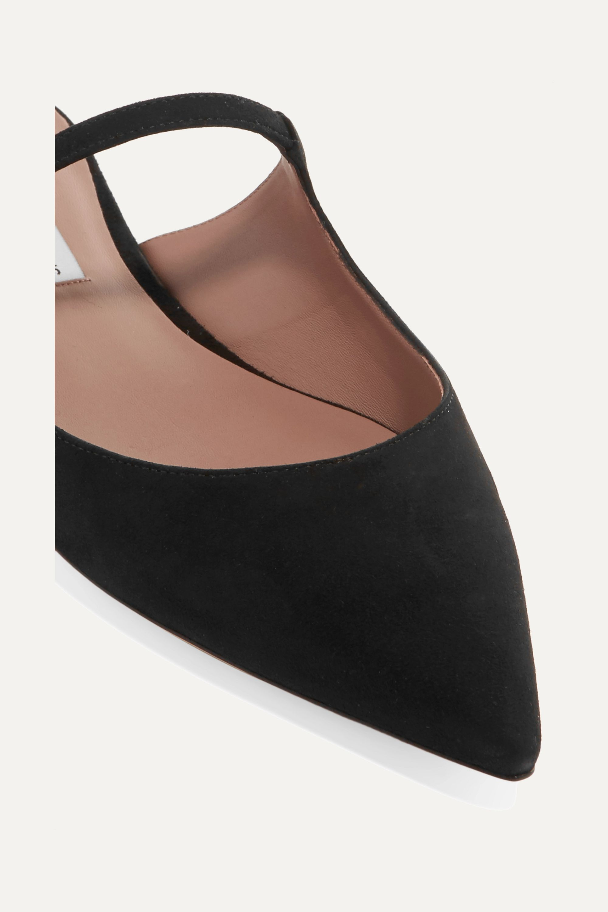 Tabitha Simmons Kittie crystal-embellished suede slippers