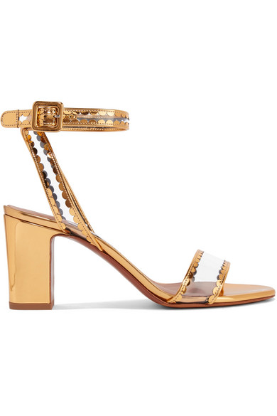 Leticia Patent-leather And Pvc Sandals - Gold Tabitha Simmons KHYG44