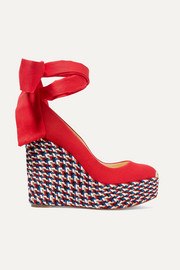 Barbaria Zeppa 120 canvas wedge espadrilles