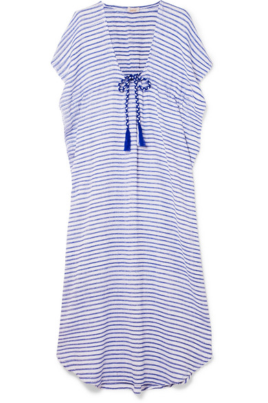 JALINE CAMILLA STRIPED COTTON MAXI DRESS
