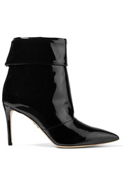 Banner patent-leather ankle boots
