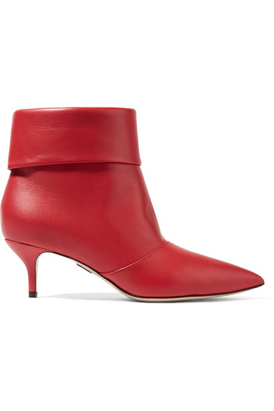 PAUL ANDREW BANNER LEATHER ANKLE BOOTS