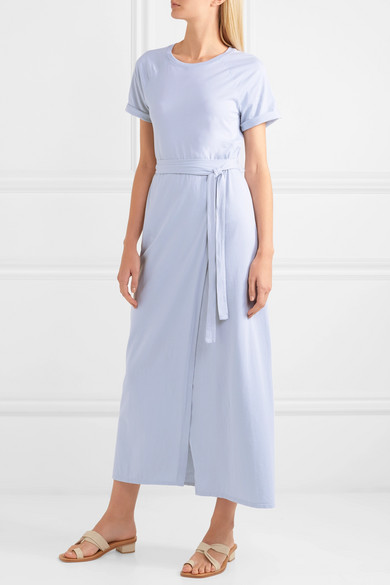 Welles Belted Cotton Jersey Maxi Dress by Elizabeth And James