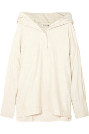 Cortlandt cotton hooded top