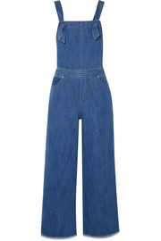 Jennette frayed denim overalls