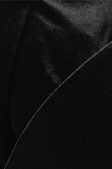 Christopher Kane Midikleid aus Stretch-Samt mit asymmetrischer Schulterpartie