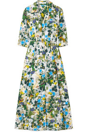 Kasia floral-print cotton-poplin midi dress