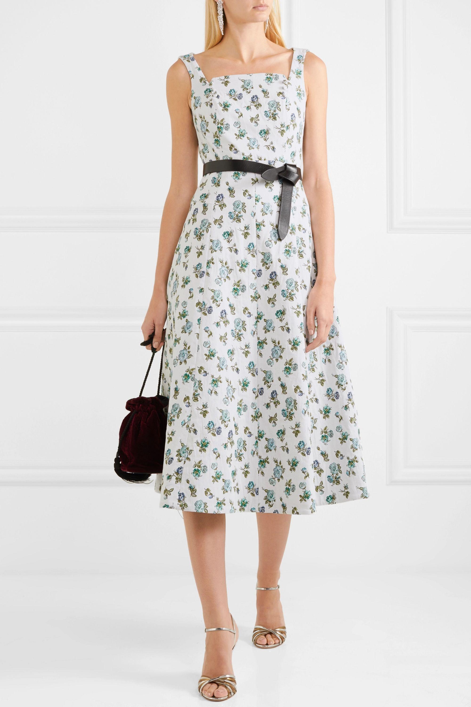 Erdem Polly floral-jacquard midi dress