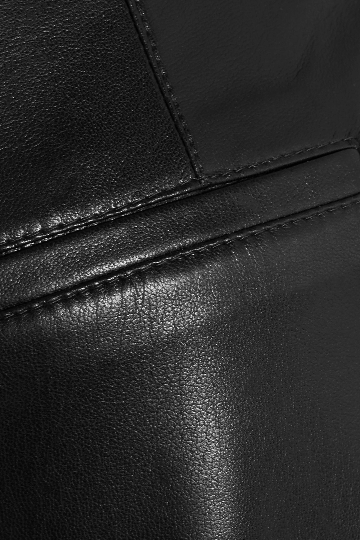 Nanushka Africa cropped vegan leather wide-leg pants