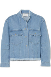 Cyphre frayed denim jacket