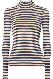 Alana striped modal turtleneck sweater