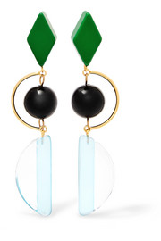 Marni Gold-tone and resin earrings