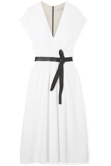 NARCISO RODRIGUEZ Belted crepe dress