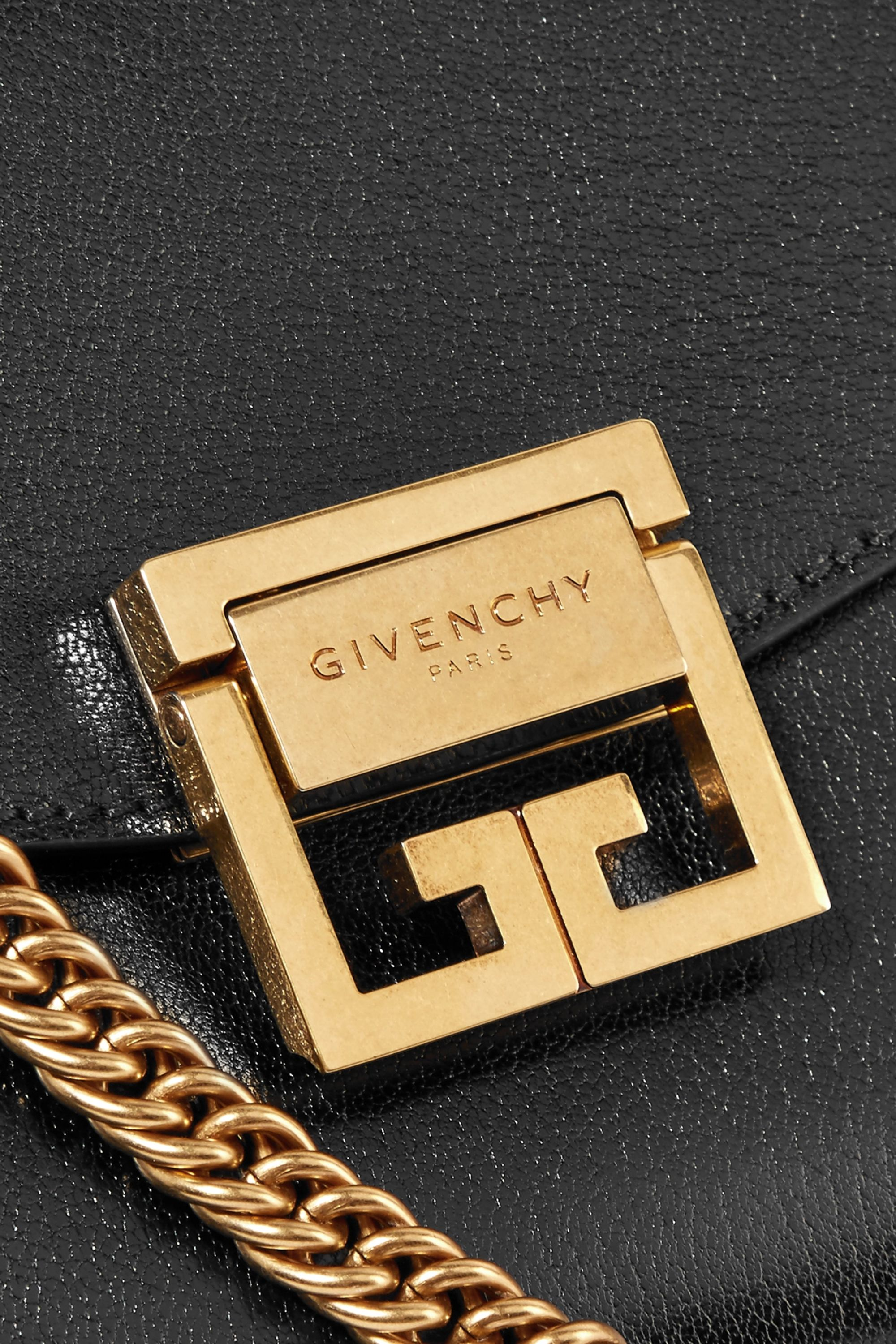 Givenchy GV3 small textured-leather and suede shoulder bag