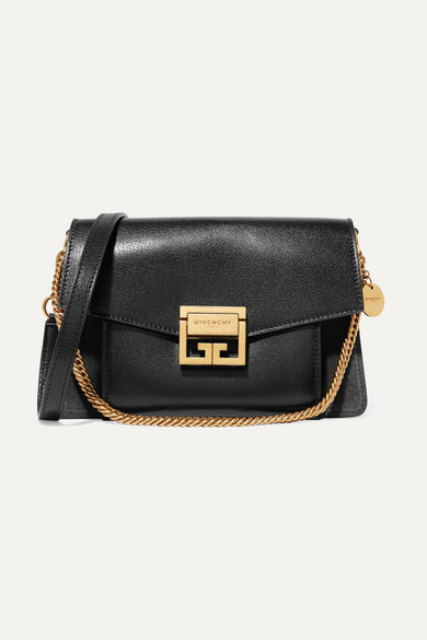 6cc6a215b9e15 Givenchy | GV3 small textured-leather and suede shoulder bag | NET-A -PORTER.COM