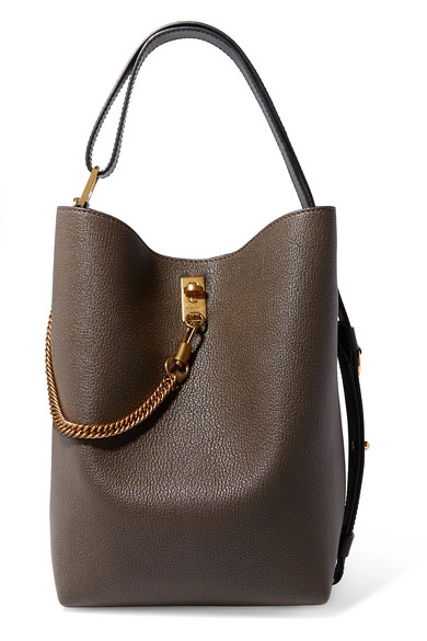 GV Bucket textured-leather shoulder bag