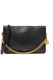 Givenchy GV textured-leather and suede shoulder bag