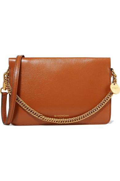 GV Cross suede-trimmed leather shoulder bag