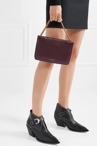 8c2d1116b2 Cross3 textured-leather and suede shoulder bag