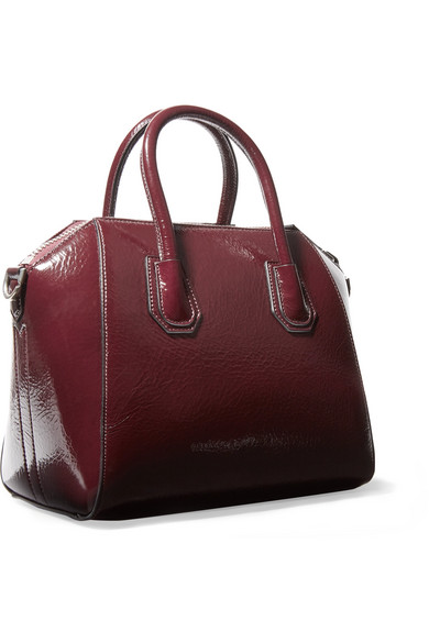 b3579e45c22 Givenchy | Antigona small textured patent-leather tote | NET-A ...