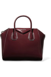 Givenchy Antigona small textured patent-leather tote
