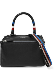 Givenchy Pandora striped textured-leather shoulder bag